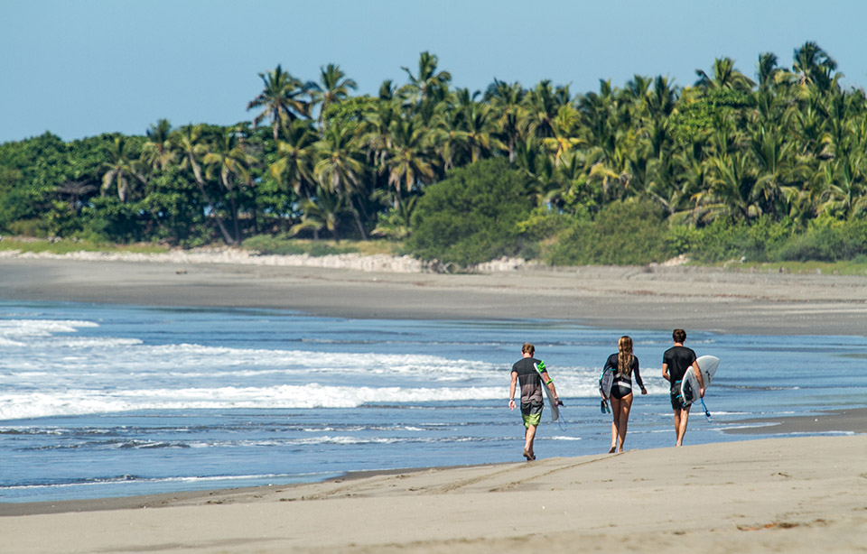 Uncrowded waves in Nicaragua