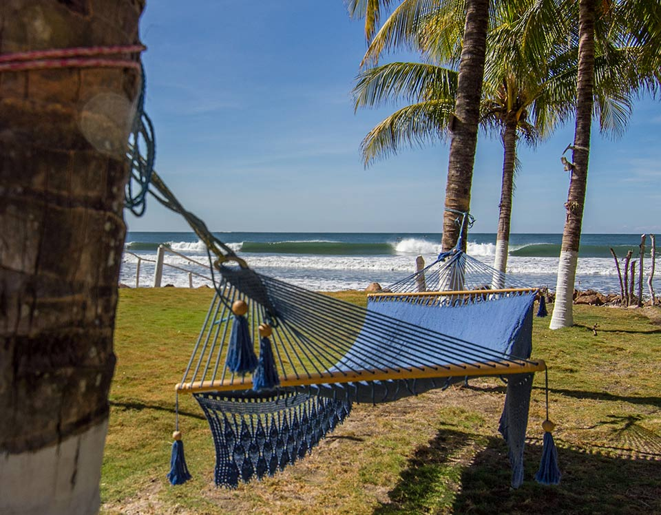 Relax in a hammock on the beach